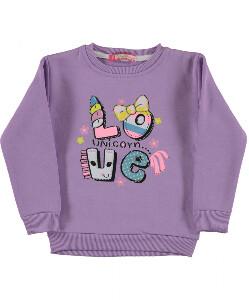 Bilde av Sweatshirt - Love unicorn - Lilla