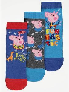 Bilde av 3pk sokker - Georg Gris og Dinosaur