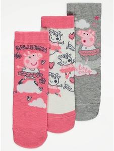 Bilde av 3pk sokker - Peppa Gris - Ballerina