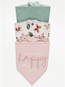Bilde av 3pk myke smekker - Mummy's Happy Little Girl