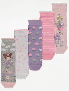 Bilde av 5pk sokker - Fairy and flowers