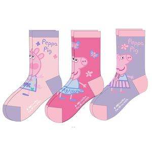 Bilde av 3pk sokker - Peppa Gris - Rosa/Lilla
