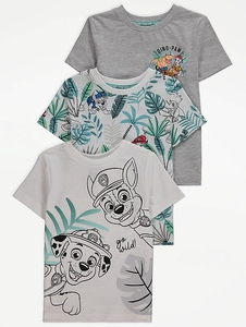 Bilde av 3pk t-skjorte - Paw Patrol - Go wild!