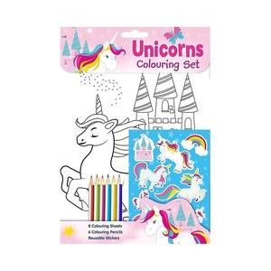 Bilde av 8pk tegneark, klistremerker og farger -
