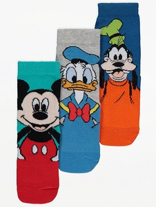 Bilde av 3pk sokker - Mikke, Donald og Langbein