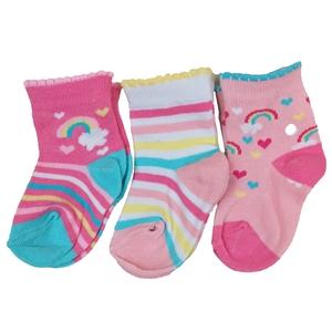 Bilde av 3pk sokker - Regnbue, hjerter og striper