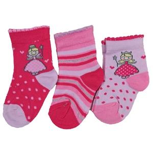 Bilde av 3pk sokker - Fe, hjerter og striper