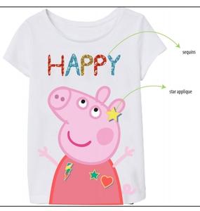 Bilde av T-skjorte med paljetter - Peppa Gris