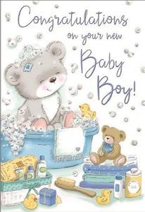 Bilde av Kort - Congratulations on your new Baby Boy!