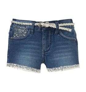 Bilde av Amy shorts med belte og paljetter