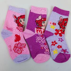 Bilde av 3pk sokker - Mia og Meg - Rosa/Lilla