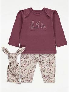 Bilde av Pysjamas og koseklut - Happy Little Bunny