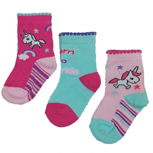 Bilde av 3pk sokker - Unicorn - Born to sparkle