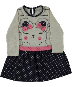 Bilde av Emma kjole med 3d detaljer