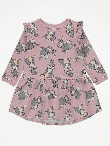Sweatshirt-kjole med rysjer - Trampe