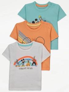Bilde av 3pk t-skjorter - Mikke Mus og venner