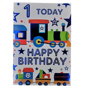 Bilde av Bursdagskort - 1 today - Happy Birthday