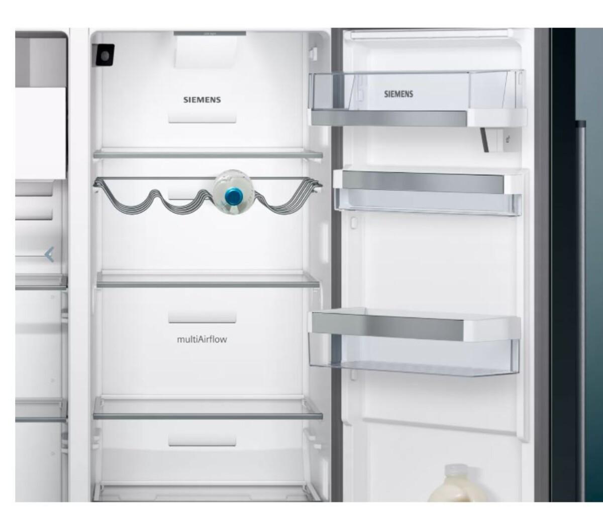 SiemensiQ700 Side-by-side Antrasitt farget / rustfritt stålKA9