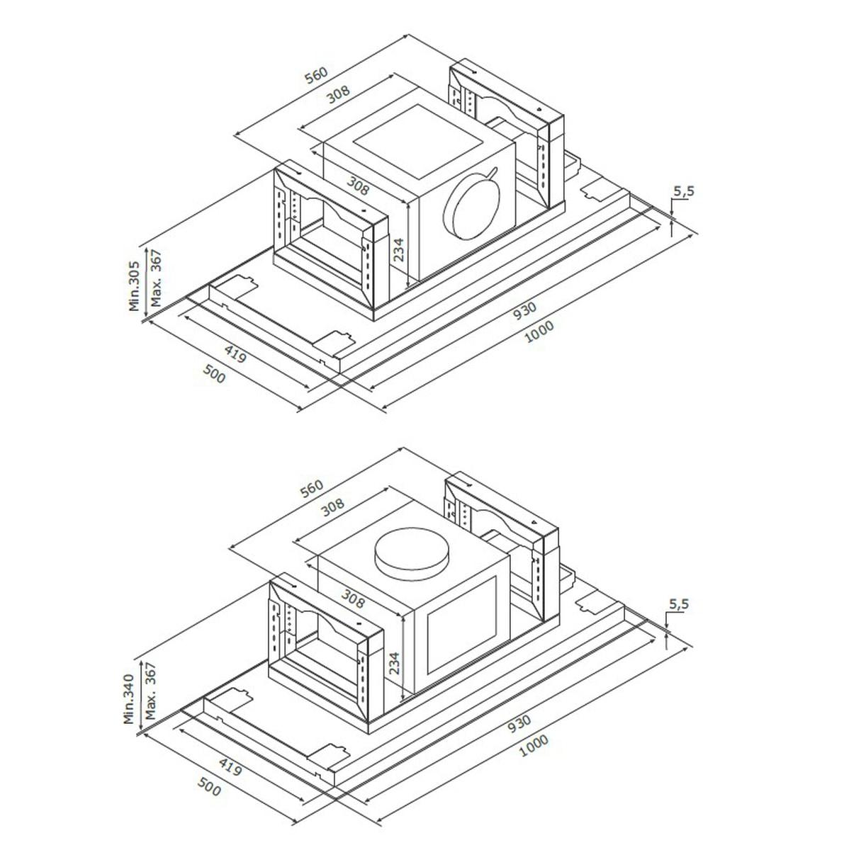 EICO tak ventilator hvit 100 cm E19 100 W - LINK