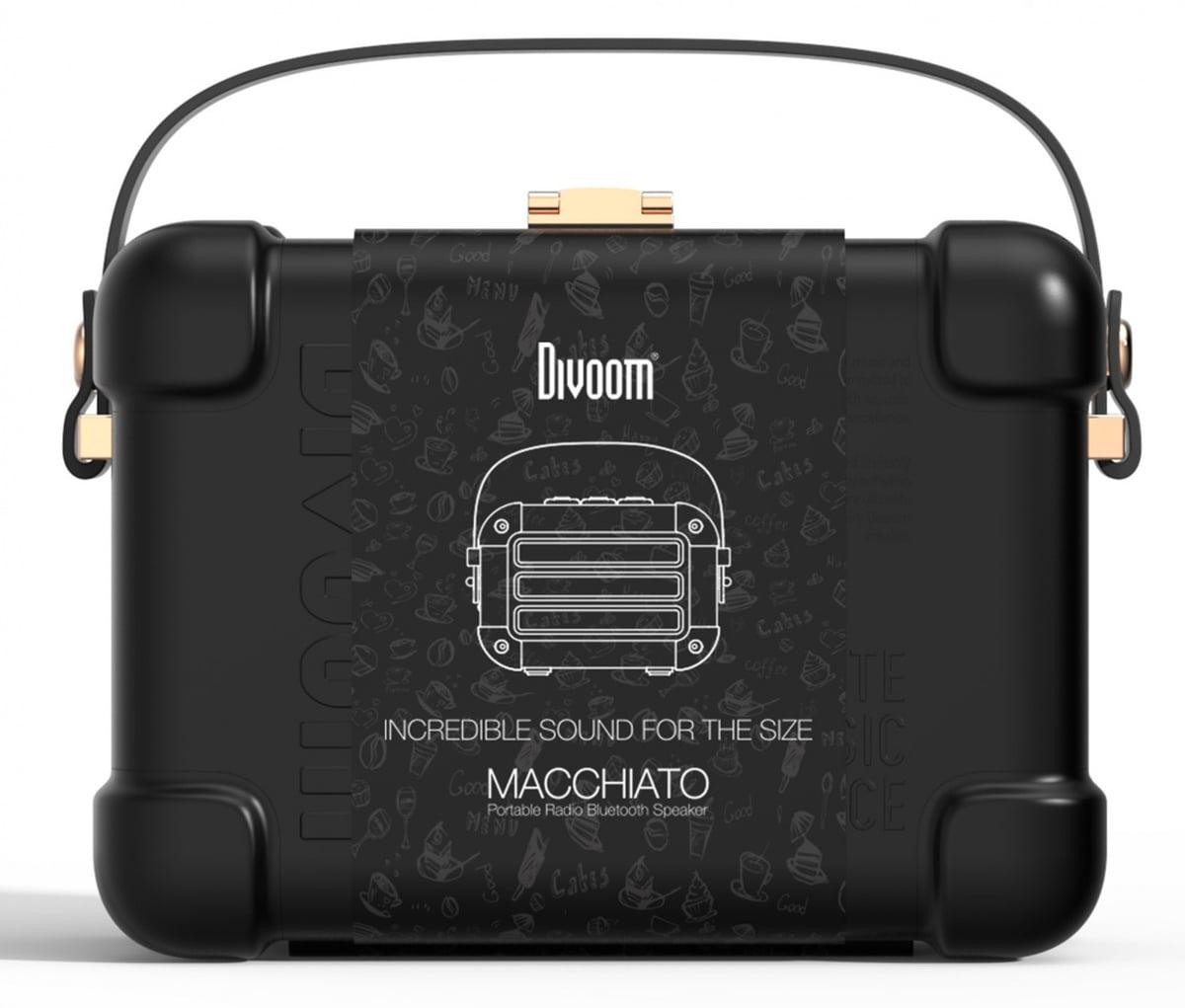 Divoom Macchiato blåtann-høyttaler sortTWS 6w301000