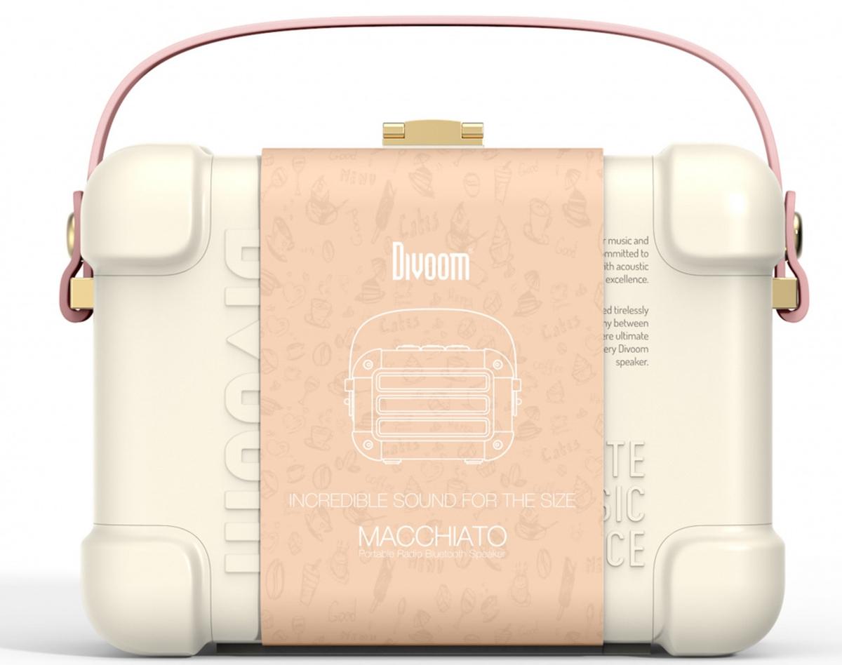 Divoom Macchiato blåtann-høyttaler rosa TWS 6w301001