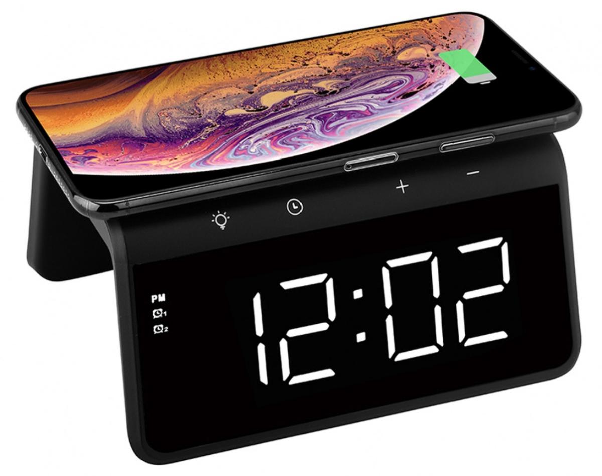 TargetTrådløs lader med klokke, Audix SY-W0258, sort 2202