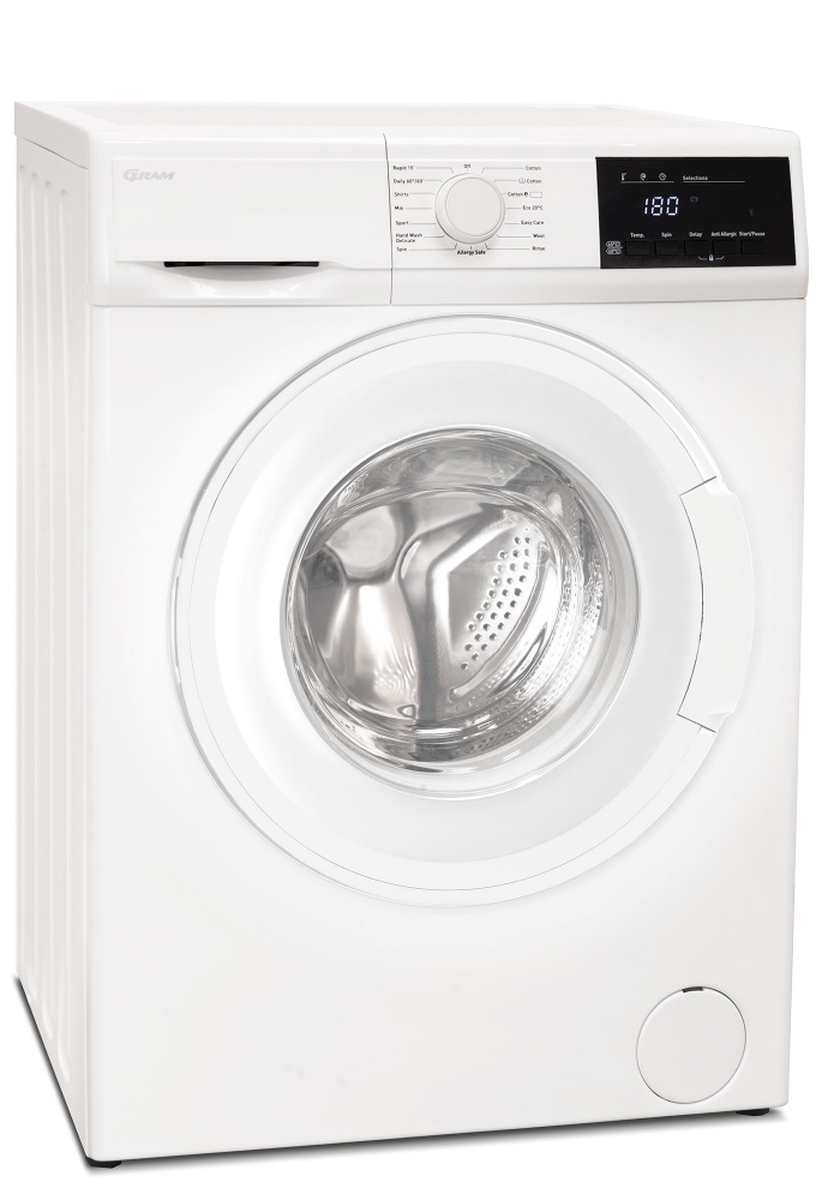 Gram vaskemaskin 7 kg 1400 omdr. A+++WDE 50714-90