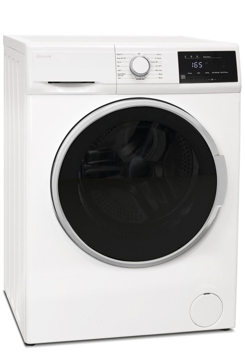 Gram vaskemaskin 8kg 1400omdr. A+++WDE 51814-90
