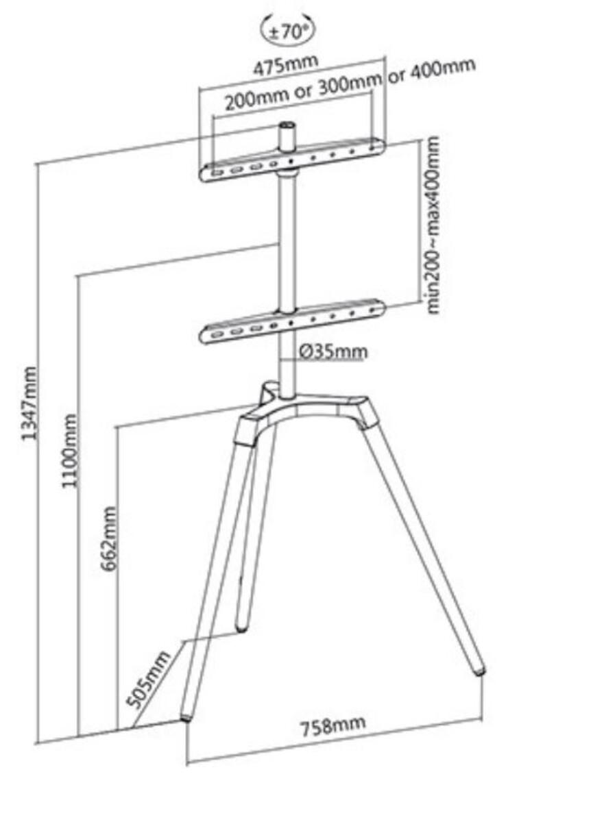 TV-stativ bord 50-65