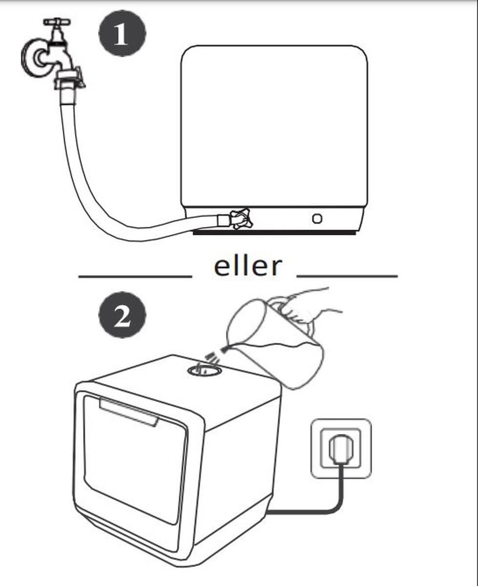 Scandomestic benk oppvaskmaskin hvit svart SFO 101 W