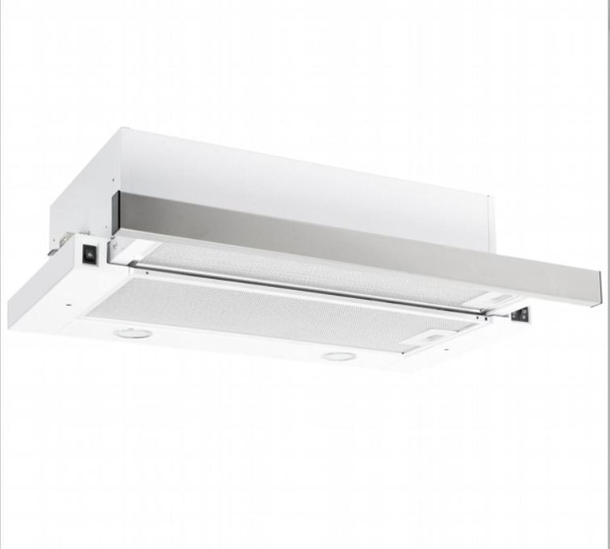 Silverline ventilator hvit stål og sort frontSM1110 PLATIN