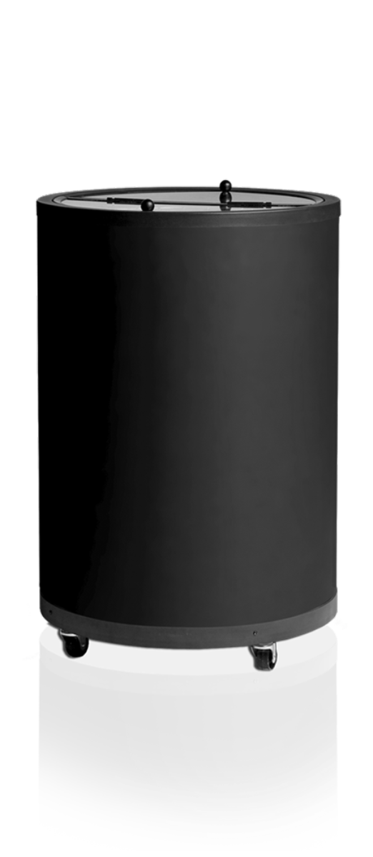 Tefcoldtønnekjøler svart 83 cmCC77
