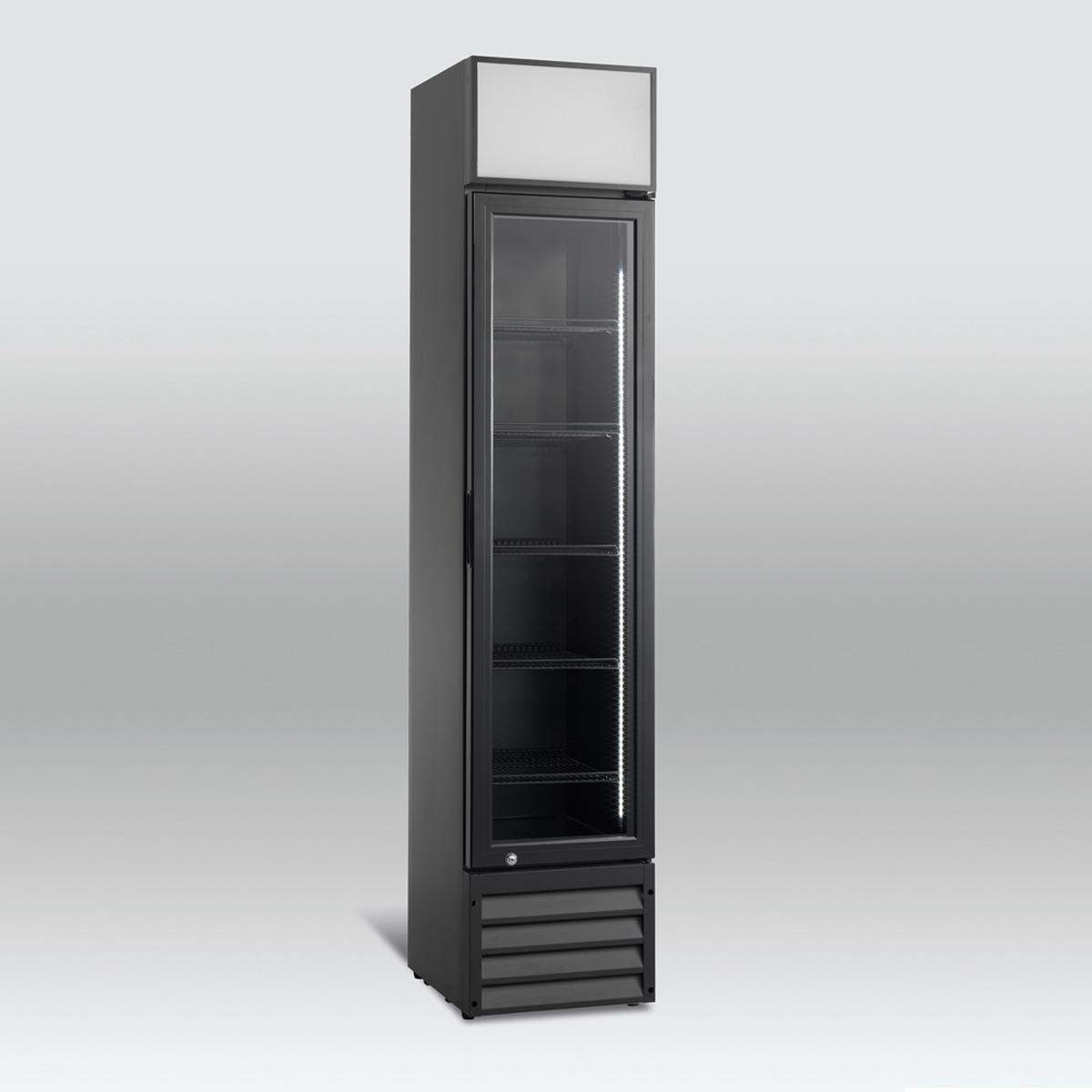 Scandomestic display kjøleskap sort SD 216-1B