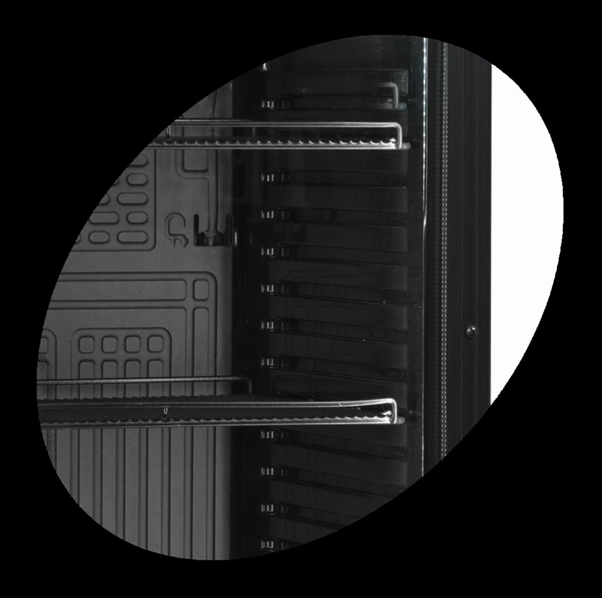 Tefcold display kjøleskap sort 184 cm CEV425 BLACK