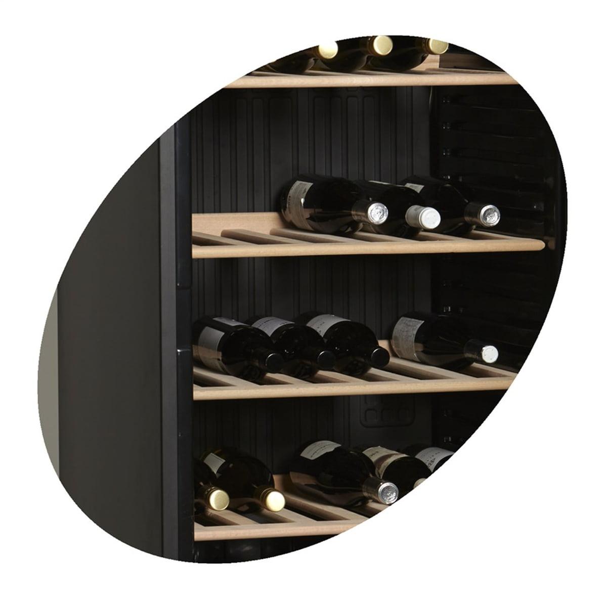 Tefcold vinskap sort 1 sone 184 cm CPV1380