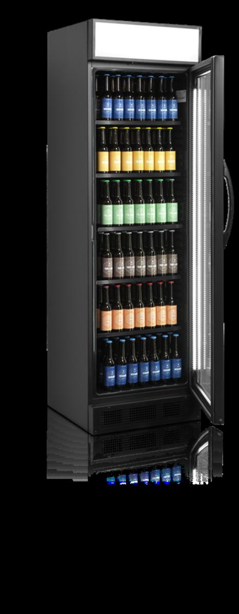 Tefcold display kjøleskap svart 198 cm CEV425CP BLACK