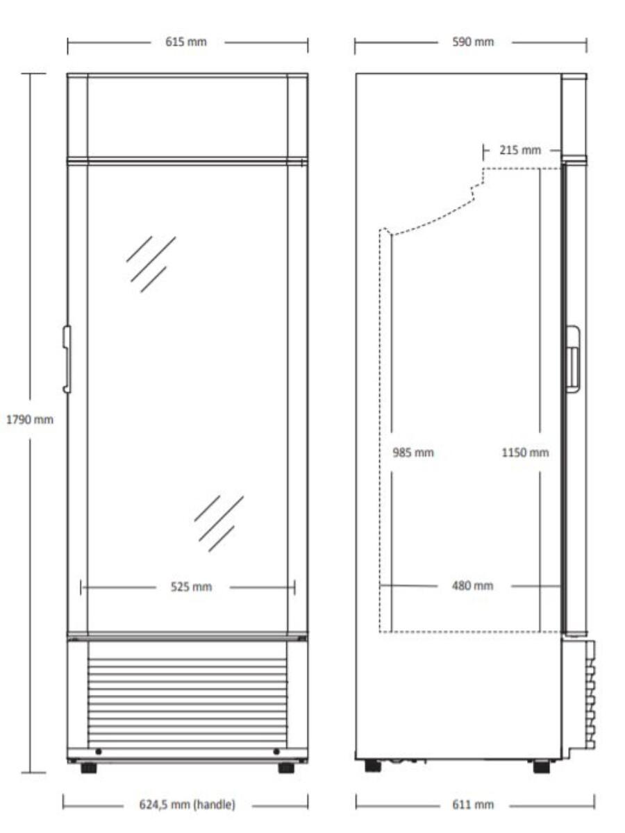 Scandomestic display kjøleskap KK 381