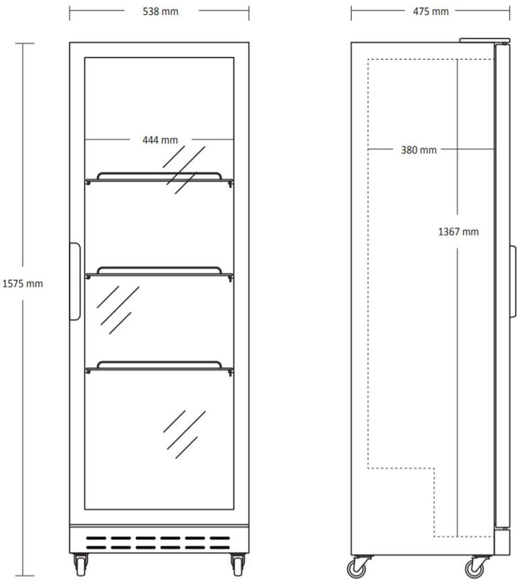 Scandomestic displaykjøleskapSD 180