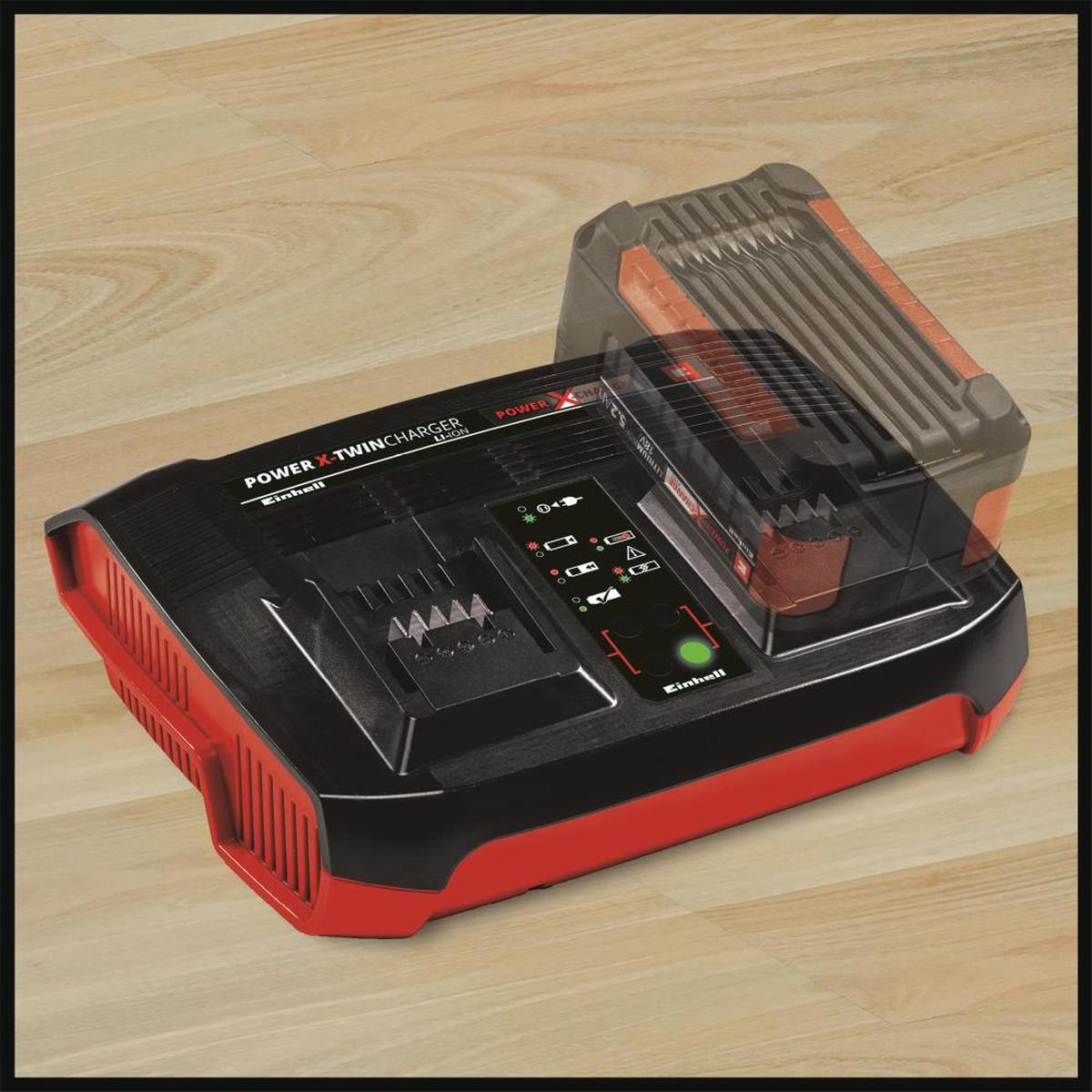 EinhellPower-X-Twincharger 3 A, dobbel Lader 4512069