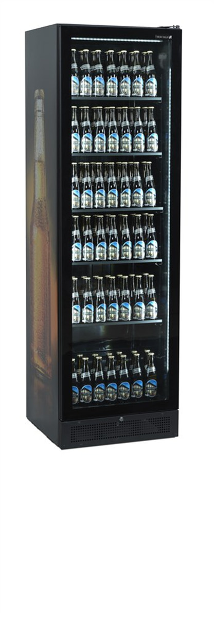 Tefcold display kjøleskap svart rammeløs 199 cm SCU1425