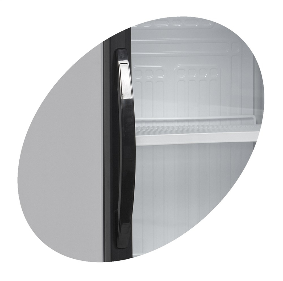 Tefcold display kjøleskap hvit 198 cmCEV425CP 2 LED