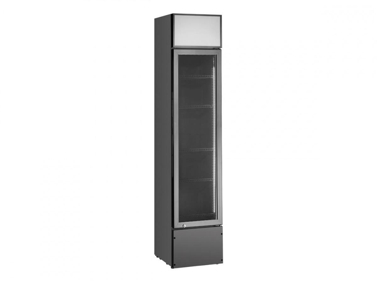 Vibocold displaykjøleskap 1 dørsort VDCS 218B