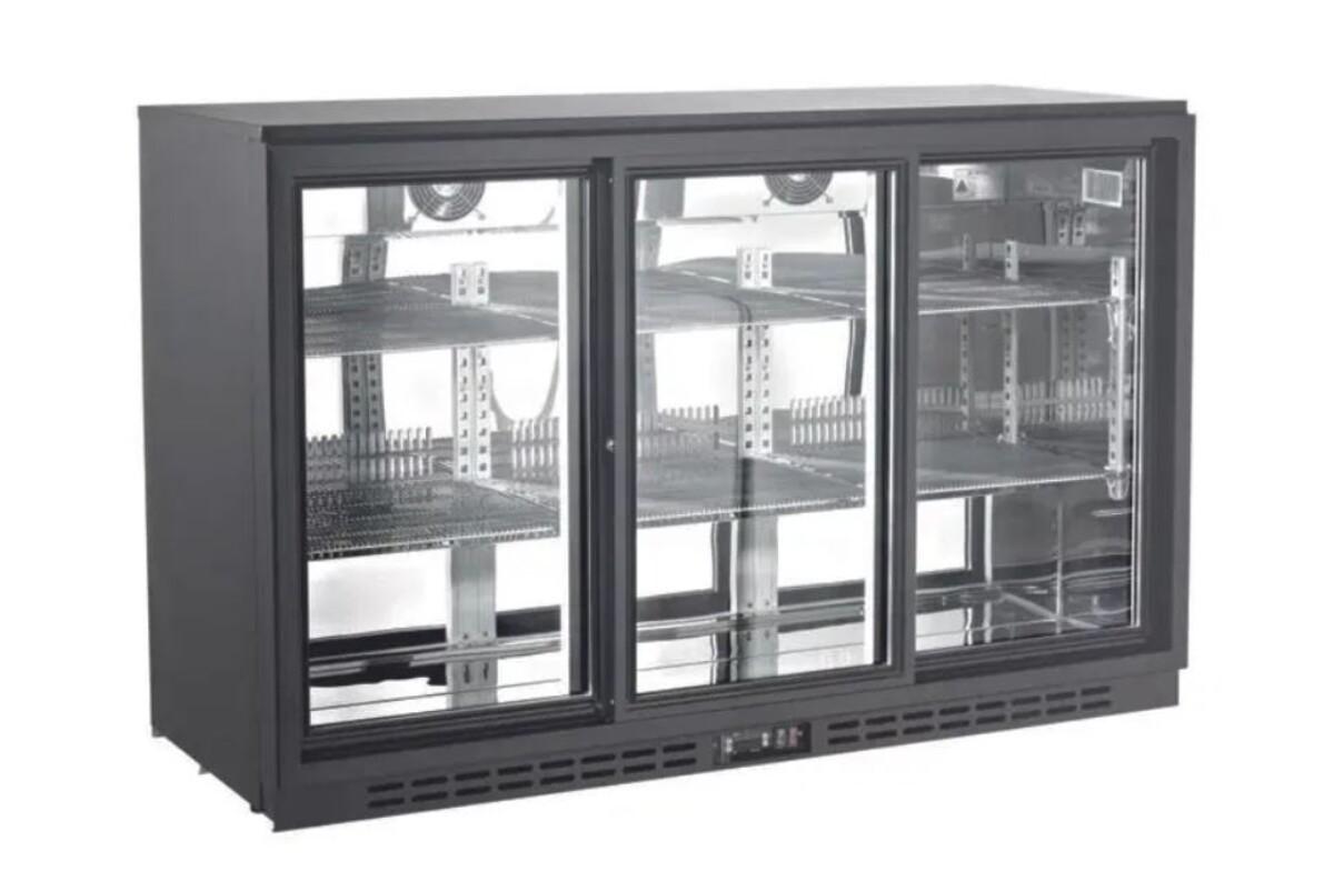 Cold bar kjøleskap med skyvedører135 cm S/STS Backbar
