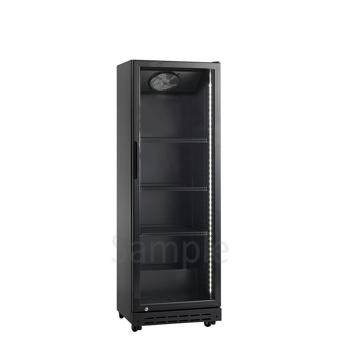 Scandomestic displaykjøleskap 157,5 cm sortSD 181 BE