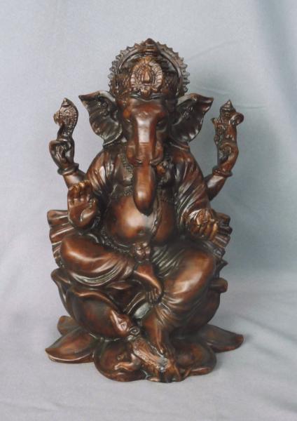 Bilde av Ganesh på Lotus  21 cm
