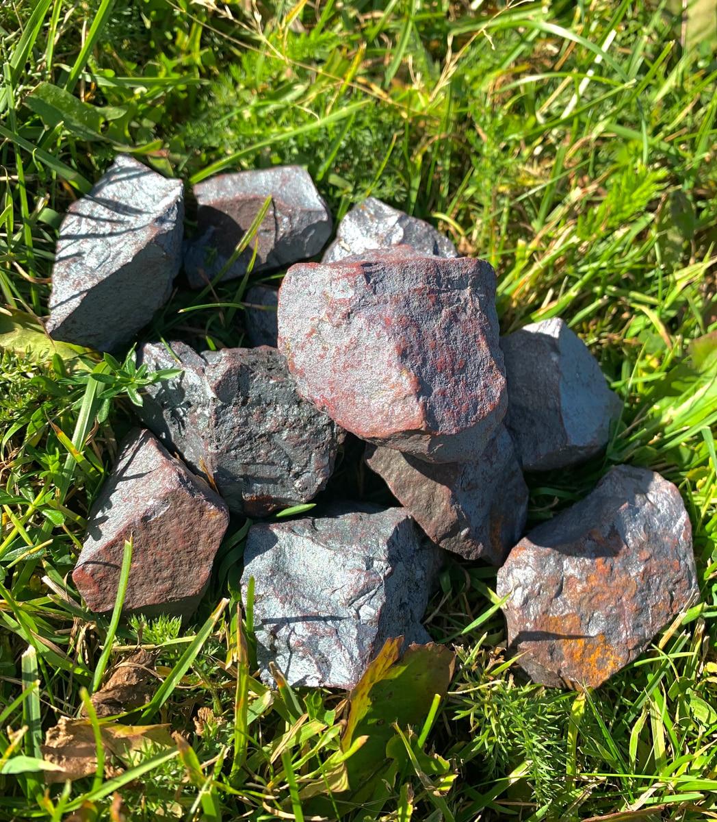 Hematitt Råstein 60-90 gram