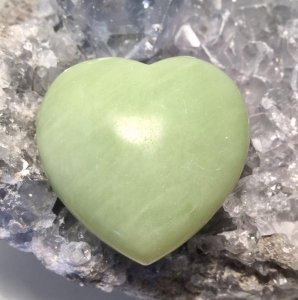 Bilde av Jade Grønn Hjerte 4,5cm
