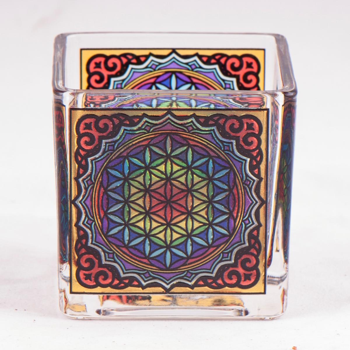 Telysholder Flower of Life Glass
