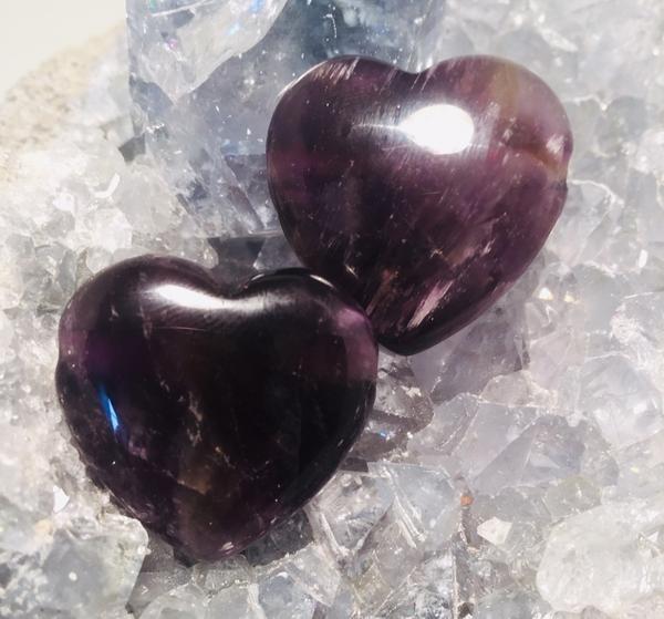 Bilde av Ametyst Hjerte Anheng 3cm