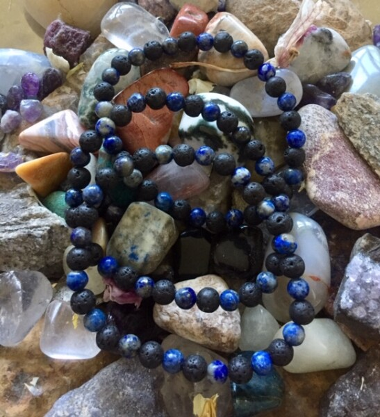 Bilde av Armbånd Lapis Lazuli & Lava